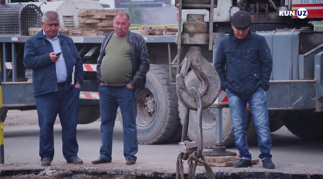 Фото и видео: Spark влетел в котлован опоры для станции метро в Ташкенте - 4