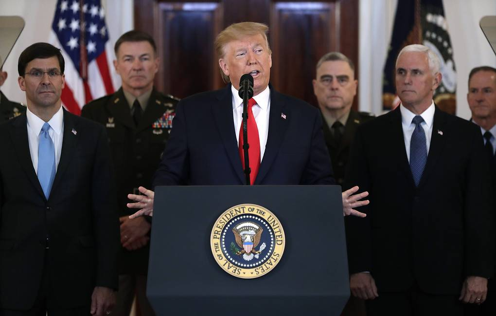 Трампнинг ракета зарбасига жавоби: Эрон чекинди, АҚШ босимни давом эттиради