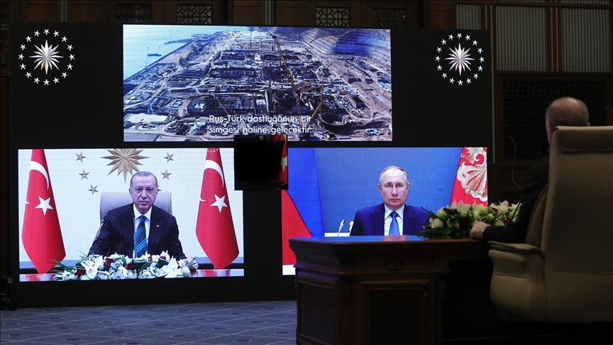 Эрдўған ва Путин «Аккую» АЭСининг учинчи энергия блоки қурилишига старт берди