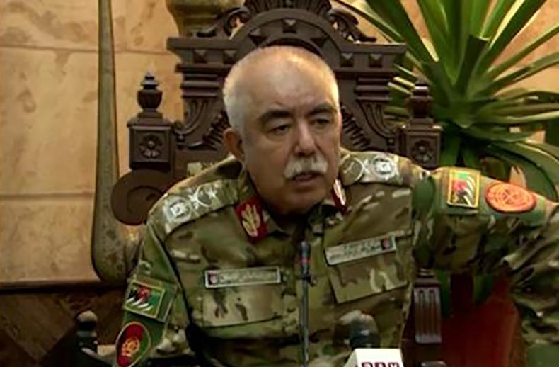Маршал Абдул Рашид Дустум выступил с заявлением. Позже талибы подожгли его  дом
